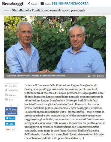 Bresciaoggi 10/06/2017 – Nuovo Presidente