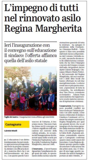 Giornale di Brescia – 30/10/2016 – Inaugurazione post riqualificazione