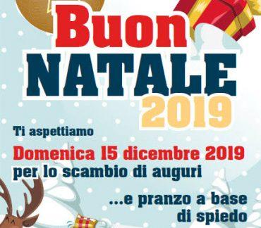 Pranzo per gli auguri natalizi – domenica 15 dicembre 2019